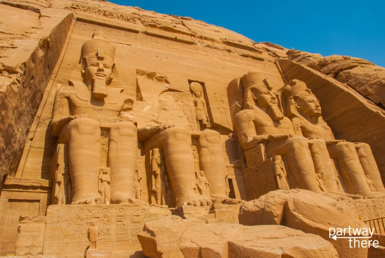 The temple of Ramses II at Abu Simbel in Egypt