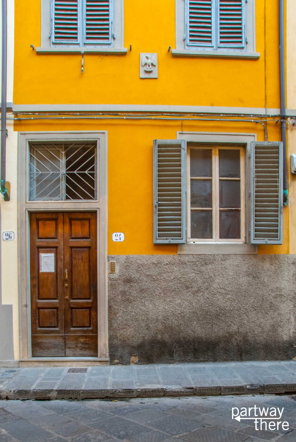 A doorway in Florence, Italy