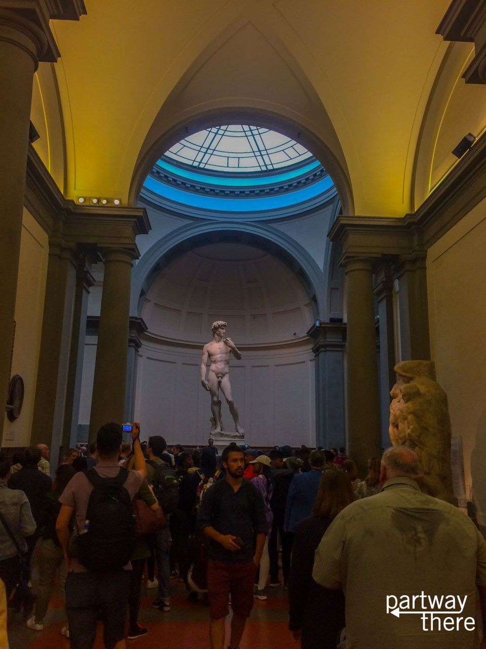 Crowds at David in Florence