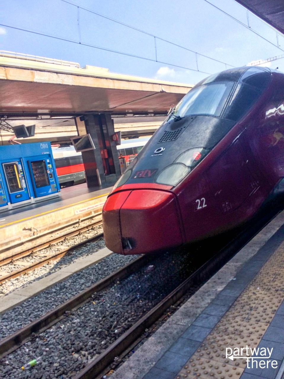The treno train in Italy