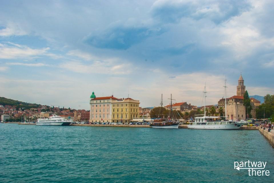 The harbor in Split, Croatia