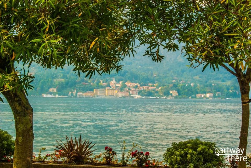 A small town on the shores of lake como