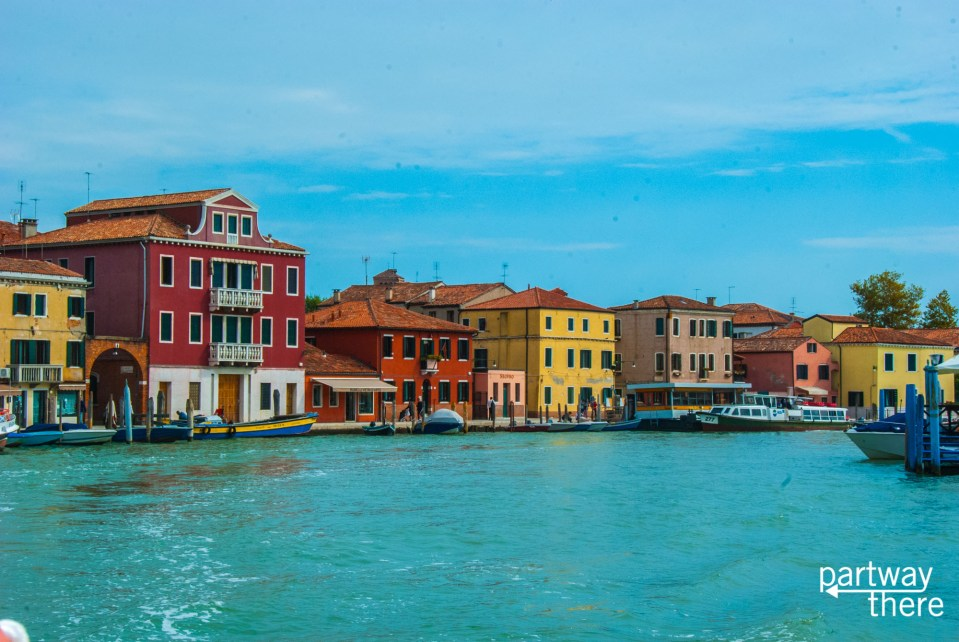Houses on a canal in Venice