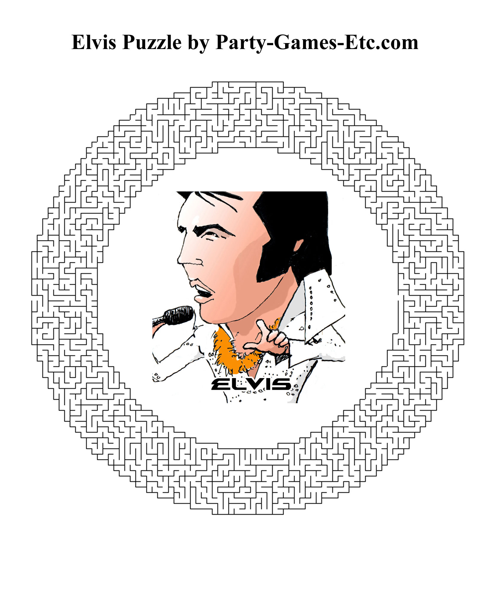 Elvis Party Games Free Printable Games And Activities For