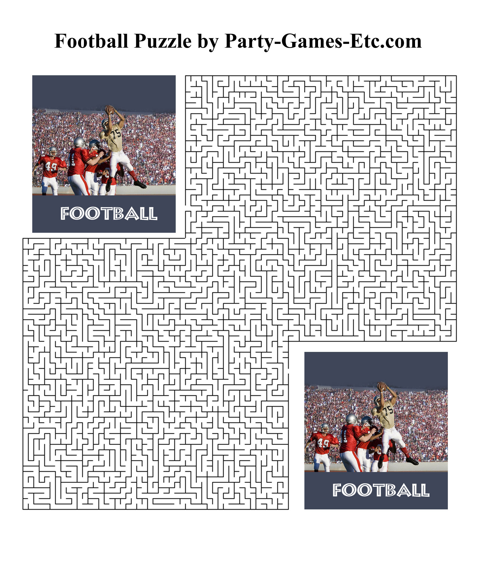 Football Party Games Free Printable Games And Activities