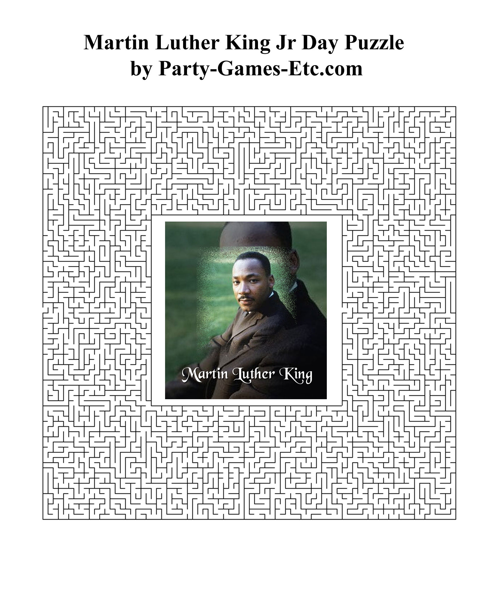 Martin Luther King Jr Party Games Free Printable Games