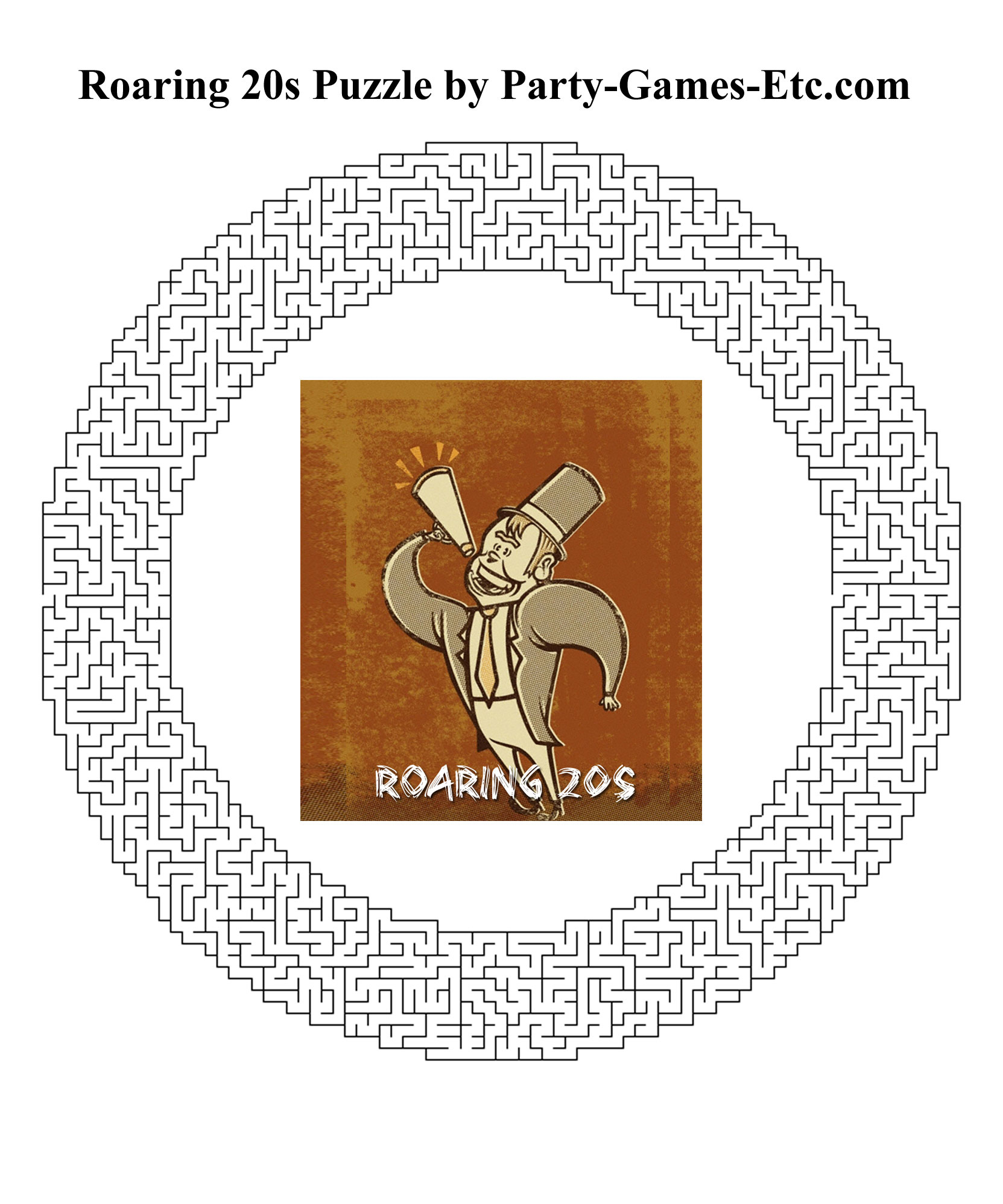 Roaring 20s Party Games Free Printable Games And
