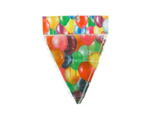 Ballooned themed, 11 flags banner