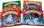 Christmas themed pop-up books. Gift wrapped