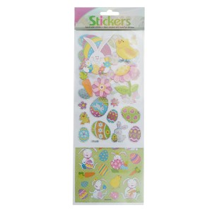 Easter stickers with bunnies, eggs