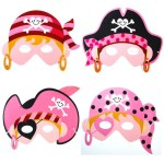 Four varieties of Pink Party Masks