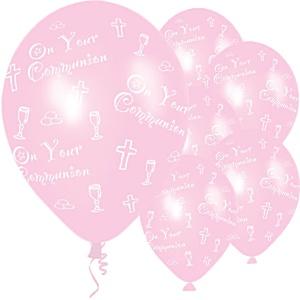 Pink Communion Balloons