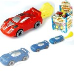 Toy car spring launcher