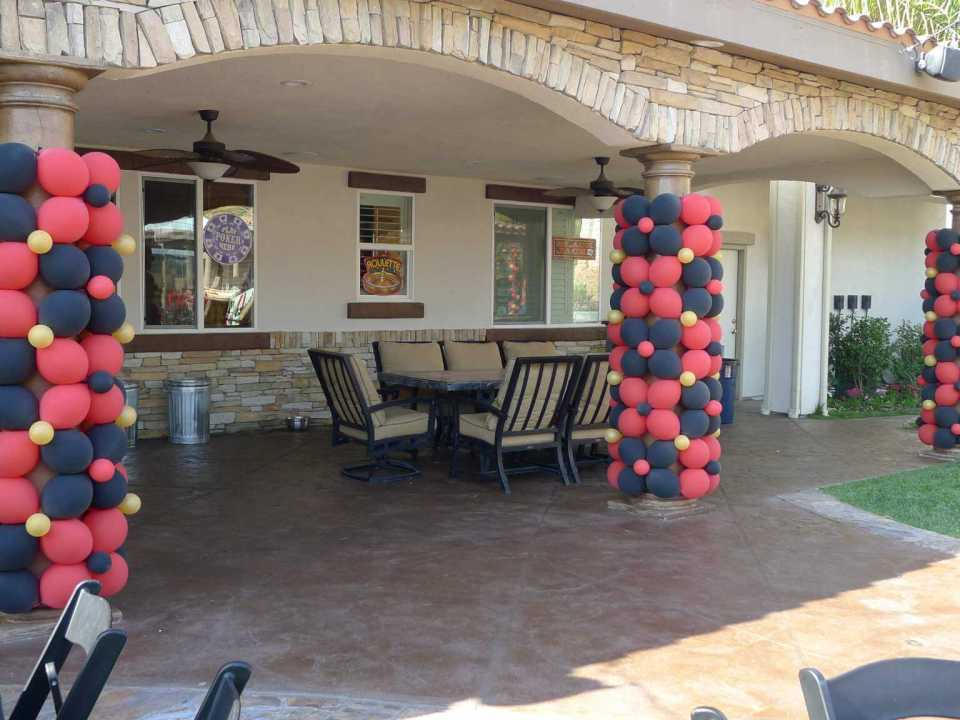Balloon wraps can dress up patio posts