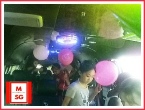 birthday party in a bus