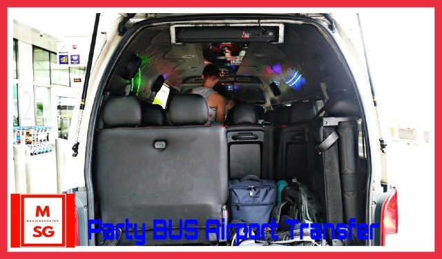 party bus booking for airport departure