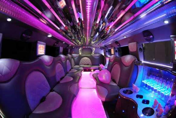 Party Bus Tombstone  AZ     Limo Service   Party Bus Tucson Cadillac Escalade limo interior Tombstone