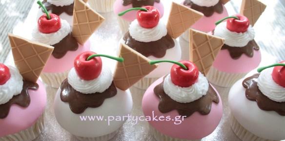 παγωτακια παγωτο κεκακια cupcakes κερασια