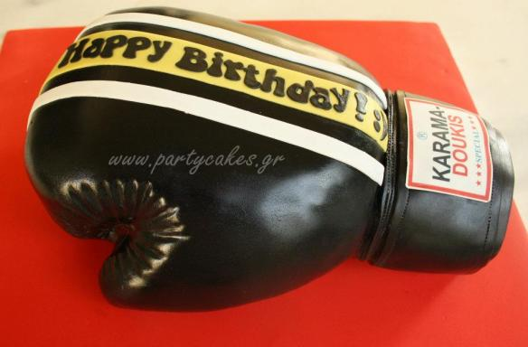 boxing glove cake crisco