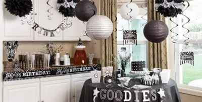 Black Amp White Birthday Party Supplies Party City