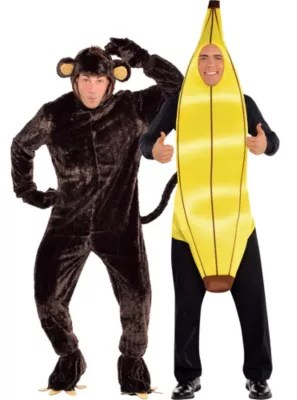 Monkey And Banana Couples Costumes Party City
