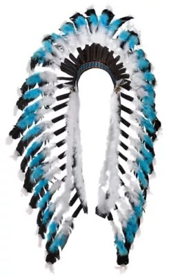 Native American Feather Headdress Deluxe 16in X 21in