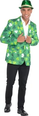Adult Shamrock St. Patrick's Day Jacket Costume - Party City
