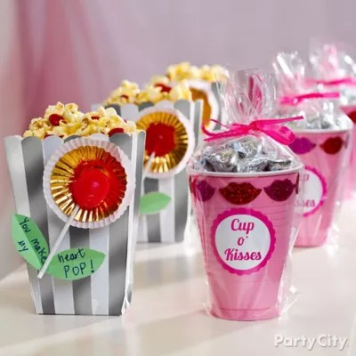 DIY Valentines Day Treat Favors Idea Valentines Day