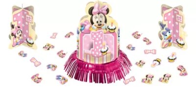 1st Birthday Minnie Mouse Table Decorating Kit 23pc