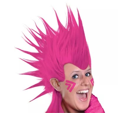 Pink Mohawk Wig Party City