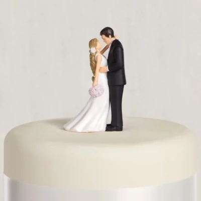 wedding cake toppers  raquo  Blonde Bride   Groom Wedding Cake Topper 4 3 16in   Party City