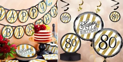 Party City 80th Birthday Decorations