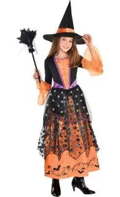 Girls Light Up Magical Witch Costume Party City