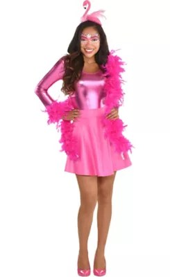 Womens Flamingo Costume Accessory Kit Party City