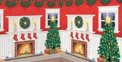 Christmas-Themed Vinyl Wall