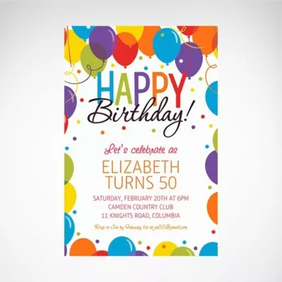 custom birthday party invites party city