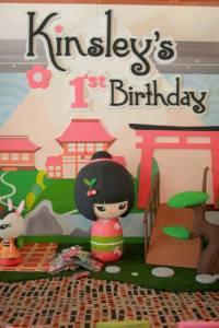 Kinsley's Japanese Kokeshi Doll Themed Party – 1st Birthday