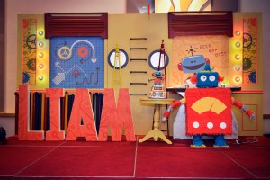 Liam's Robot Themed Party – 1st Birthday