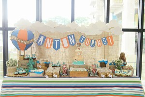 Anton's Preppy Transportation Themed Party – 1st Birthday