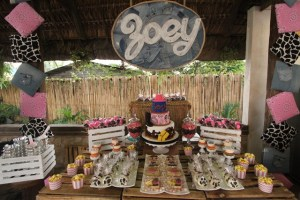 Zoey's Pink and Denim Cowgirl Themed Party – 1st Birthday