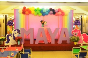 Maya's My Little Pony Themed Party – 1st Birthday