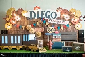 Diego's Vintage Locomotive Train Themed Party – 1st Birthday