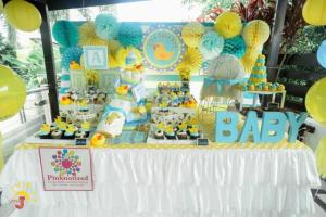 Jenna's Yellow Ducky Themed Baby Shower