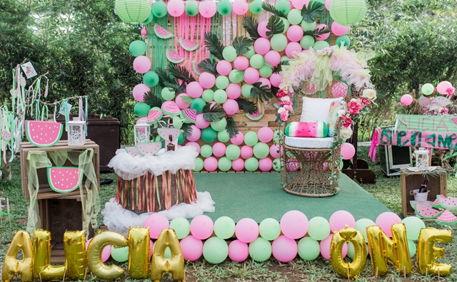 Alicia's Boho Chic One in a Melon Themed Party – 1st Birthday