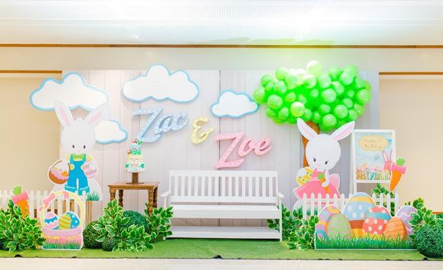 "Zac and Zoe's ""Hoppy"" Birthday Party – 1st Birthday"