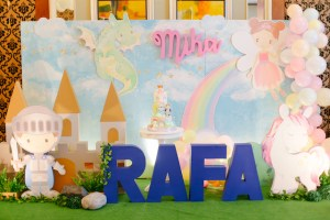 Rafa and Mika's Whimsical Dragons and Unicorns Themed Party
