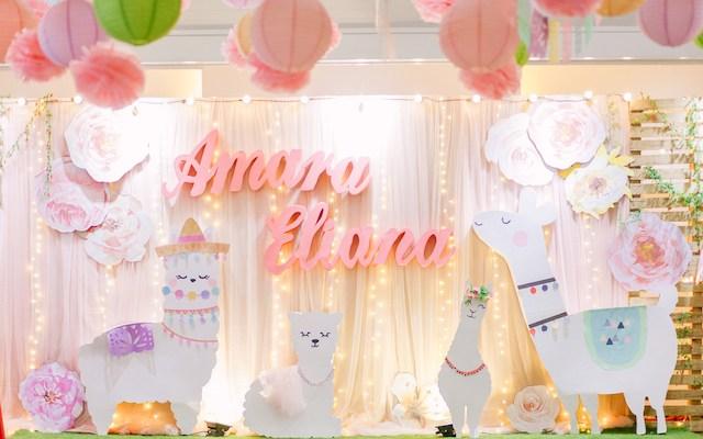 Amara's Adorable Llama Themed Party – 1st Birthday