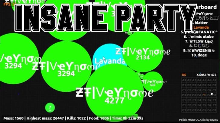 AGAR IO] INSANE [PARTYMODE] TAKING OUT TEAMS! FT ƵŦ Veynome