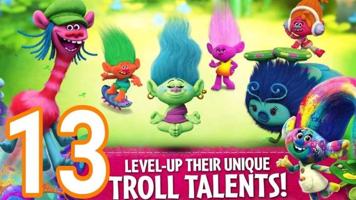Trolls-Crazy-Party-Forest-13-level-22-23-NEW-TROLL-BERRY-AndroidIOS-gameplay