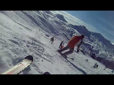 Downhill-skiing-in-La-Plagne-Paradiski-live-HD-action-video-from-ski-pist-Casio-Exilim-EX-Z300
